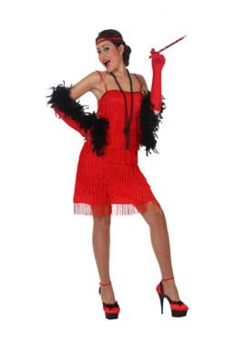 Disfraz de Charlestón Rojo para mujer talla M-L