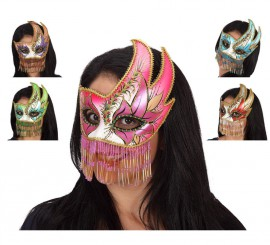 Masque de Venitien 20x18 cm 2 coloris disponibles