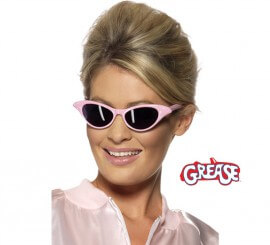 Gafas de Sol Rock and Roll de Grease rosa