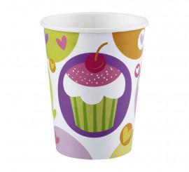 Pack de 8 Vasos de 266 ml. de Cupcake