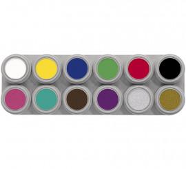 Palette de Maquillage à l'eau 12 couleurs 2,5 ml