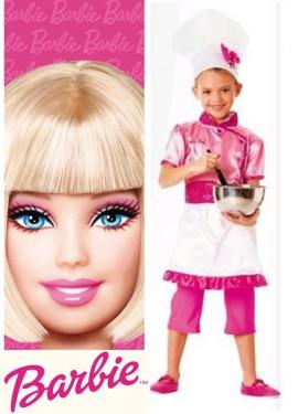 Disfraz de Barbie Cocinera niña (Varias tallas)