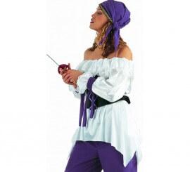 Camisa Pirata Deluxe para mujer