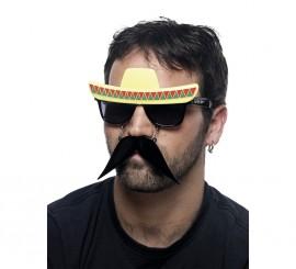 Gafas con Bigote y Sombrero de Mexicano