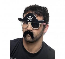 Gafas de Pirata con Bigote y Sombrero