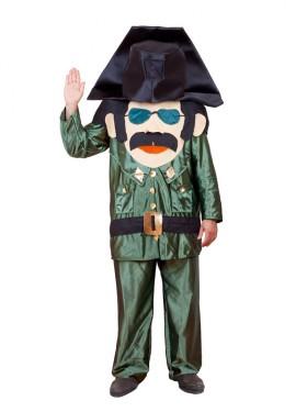 Disfraz de Guardia Civil cabezudo para adultos