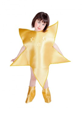 Disfraz Estrella de Navidad Dorada niños