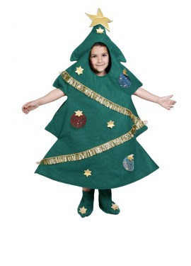 Déguisement de Sapin de Noël pour enfants. Plusieurs tailles.