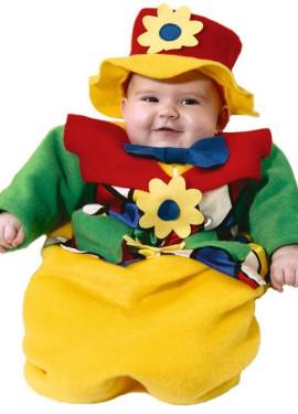 Déguisement Turbulette Clown pour bébés de 6 mois