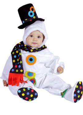 Pelele Muñeco de Nieve bebé 10 meses de Navidad