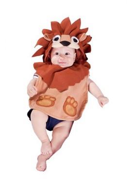 Disfraz o Babero León 6 meses para bebé