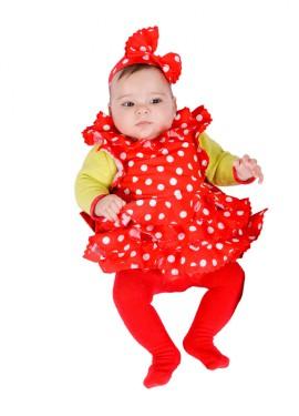 Disfraz o Babero de Sevillana para bebés 6 meses