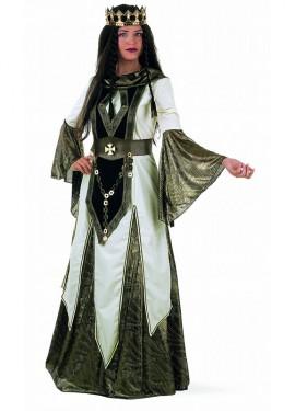 Disfraz de Reina de las Cruzadas Extralujo mujer