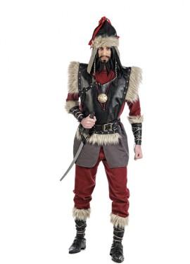 Déguisement de Mongol Genghis Kan pour homme. Plusieurs tailles