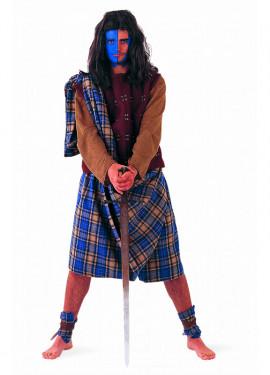 Disfraz de Guerrero Escocés Extralujo para hombre