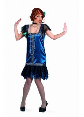 Disfraz de Charlestón Azul Superluxe para mujer