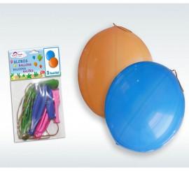 Bolsa de 3 Globos de látex Punchball con goma