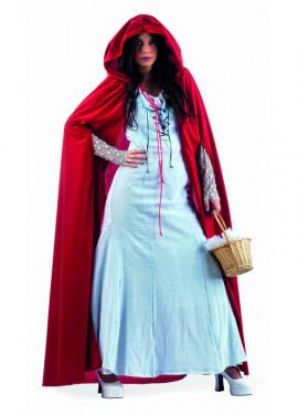 Disfraz de Caperucita Neogótica Celeste para mujer