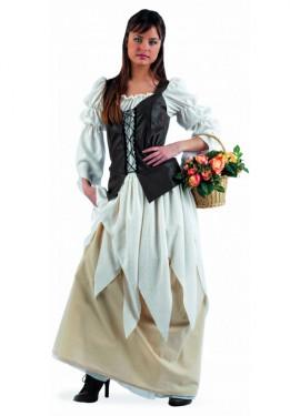 Disfraz Tabernera Medieval Eugenia Deluxe adulta