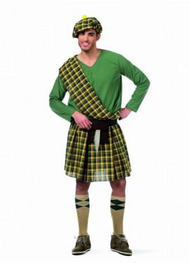 Disfraz de Escoces Verde Calum Deluxe para hombre