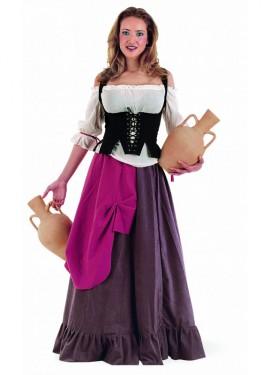 Disfraz de Tabernera Medieval Eliana Deluxe