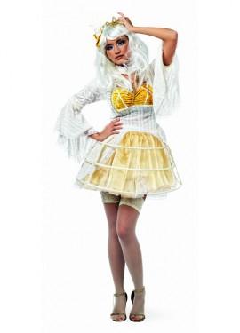 Déguisement Robe Tutu Blanc Danika Deluxe pour Femme