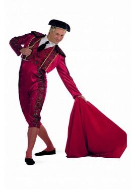 Disfraz de Torero Rojo deluxe para hombre