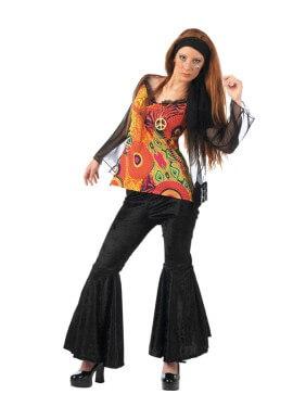 Disfraz de Hippie Disco Deluxe para mujer