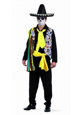 Disfraz Mejicano Dia de Difuntos Deluxe para hombre