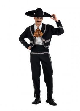 Disfraz de Mariachi negro Deluxe para hombre