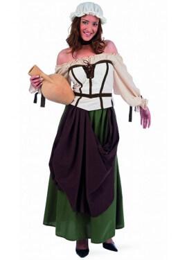 Disfraz de Tabernera Medieval Azalea para mujer