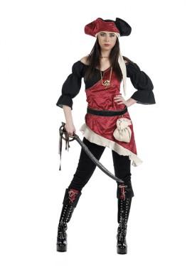 Disfraz de Pirata Saqueadora Deluxe para mujer