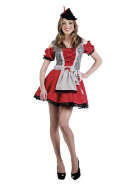 Disfraz de Oktorberfest Rojo Deluxe para mujer