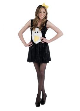 Disfraz de Pingüino negro Deluxe para mujer
