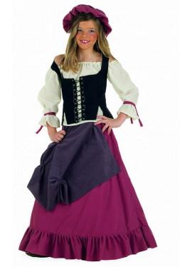Disfraz de Mesonera Medieval niña