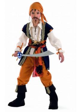 Disfraz de Pirata Malvado Deluxe para niños