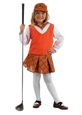 Disfraz de Jugadora de Golf Deluxe para niña