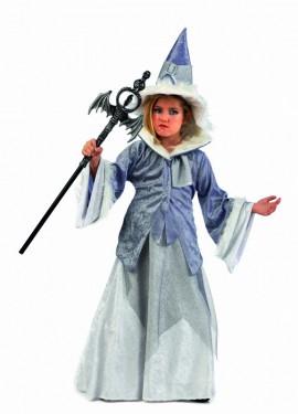Disfraz de Bruja Maga Abelina Deluxe para niña