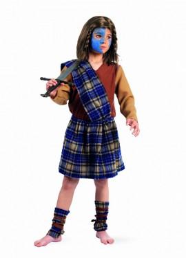 Disfraz Escocés Guerrero Deluxe para niño