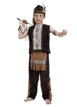 Disfraz de Indio Deluxe para Niño