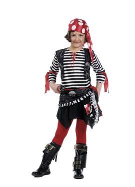 Déguisement Moussaillon Pirate pour fille. Plusieurs tailles