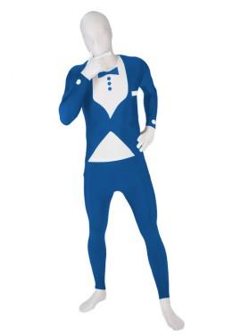Disfraz MORPHSUIT modelo traje azul con pajarita