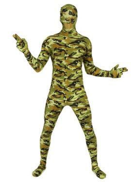 Disfraz MORPHSUIT modelo camuflaje de adultos