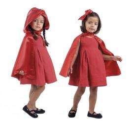 Capa Reversible de Caperucita y Blancanieves para Niña