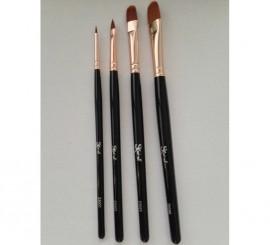 Pinceau Nº 4 à Poils de Martre Synthétique pour Maquillage
