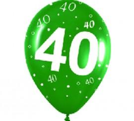 Pack de 10 Ballons en Latex Numéro 40