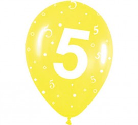 Pack de 10 Ballons en Latex Numéro 5 de 30 cm
