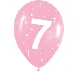 Pack de 10 Ballons en Latex Numéro 7 de 30 cm