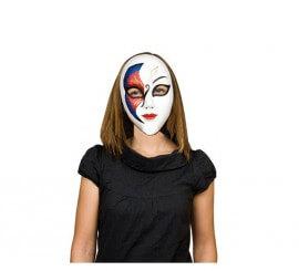 Máscara o Careta Veneciana azul y roja