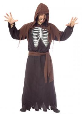 Disfraz de Esqueleto Holográfico adulto Halloween